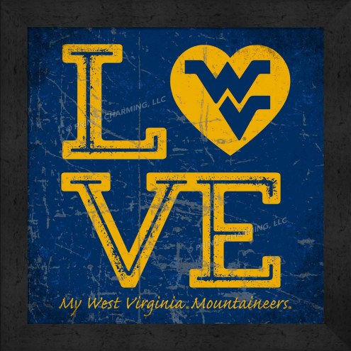 West Virginia Mountaineers Love My Team Color Wall Decor