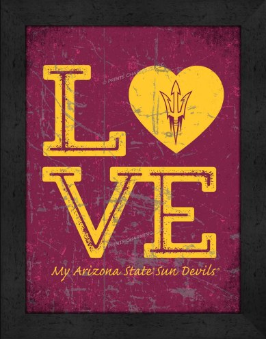 Arizona State Sun Devils Love My Team Vertical Color Wall Decor