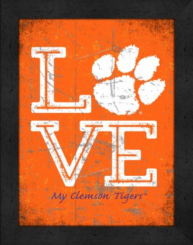 Clemson Tigers Love My Team Vertical Color Wall Decor