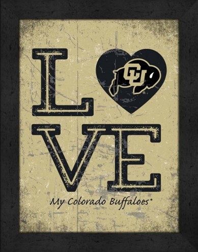 Colorado Buffaloes Love My Team Vertical Color Wall Decor