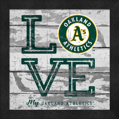 Oakland Athletics Love My Team Square Wall Decor