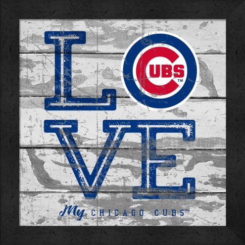 Chicago Cubs Love My Team Square Wall Decor