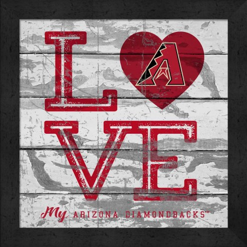 Arizona Diamondbacks Love My Team Square Wall Decor