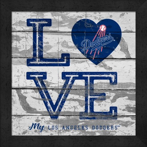Los Angeles Dodgers Love My Team Square Wall Decor