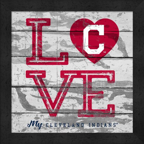 Cleveland Indians Love My Team Square Wall Decor