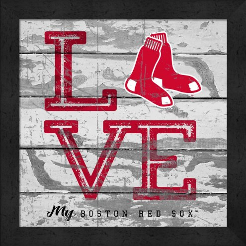 Boston Red Sox Love My Team Square Wall Decor