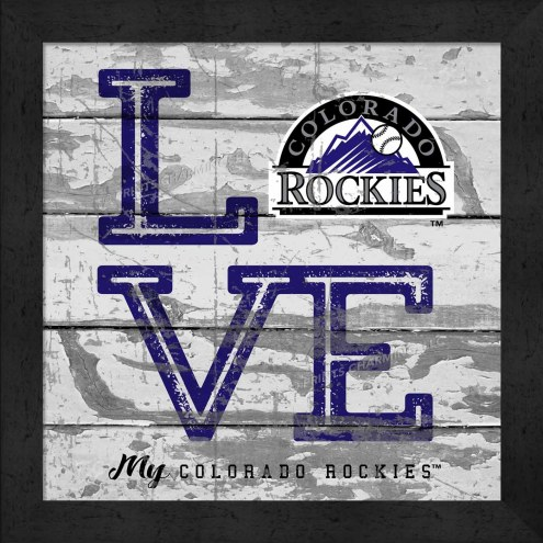 Colorado Rockies Love My Team Square Wall Decor