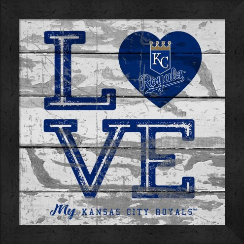 Kansas City Royals Love My Team Square Wall Decor