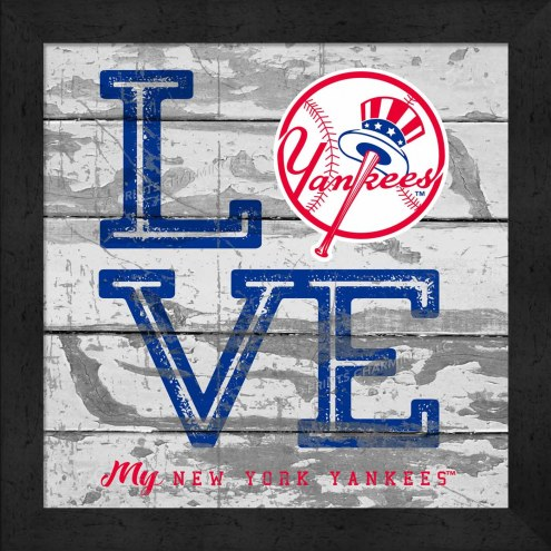 New York Yankees Love My Team Square Wall Decor