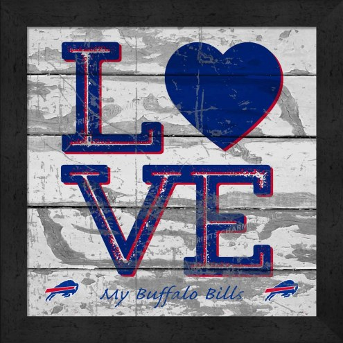 Buffalo Bills Love My Team Square Wall Decor