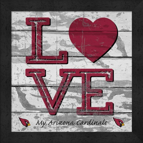 Arizona Cardinals Love My Team Square Wall Decor