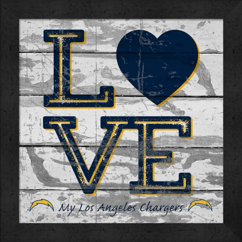 Los Angeles Chargers Love My Team Square Wall Decor