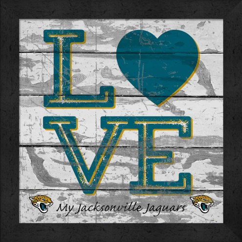 Jacksonville Jaguars Love My Team Square Wall Decor