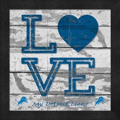 Detroit Lions Love My Team Square Wall Decor
