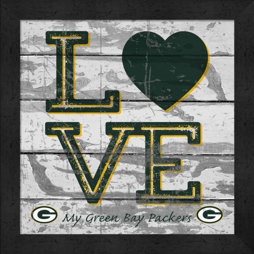 Green Bay Packers Love My Team Square Wall Decor