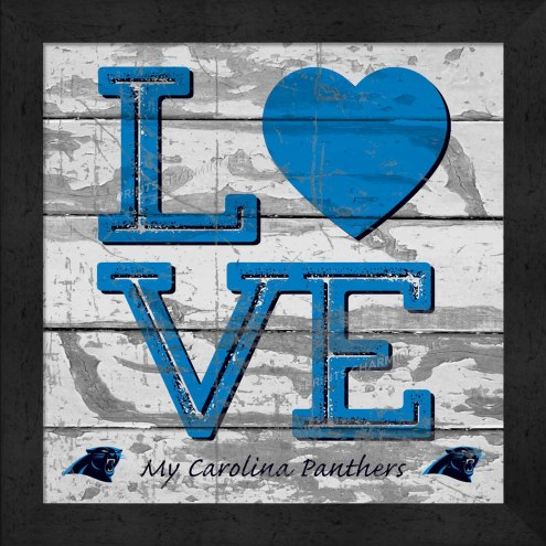 Carolina Panthers Love My Team Square Wall Decor