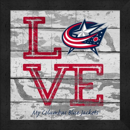 Columbus Blue Jackets Love My Team Square Wall Decor