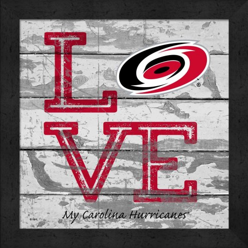 Carolina Hurricanes Love My Team Square Wall Decor