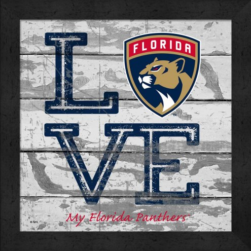 Florida Panthers Love My Team Square Wall Decor