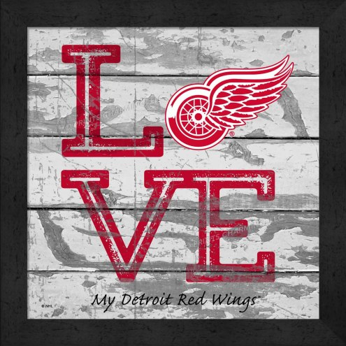 Detroit Red Wings Love My Team Square Wall Decor