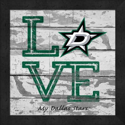 Dallas Stars Love My Team Square Wall Decor