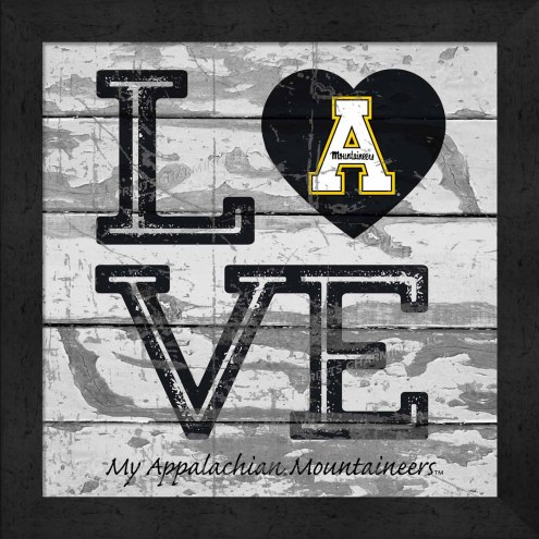 Appalachian State Mountaineers Love My Team Square Wall Decor