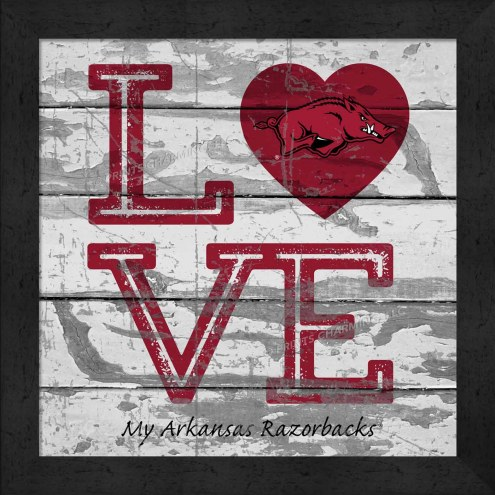 Arkansas Razorbacks Love My Team Square Wall Decor