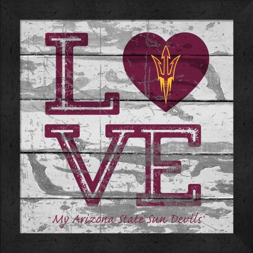 Arizona State Sun Devils Love My Team Square Wall Decor