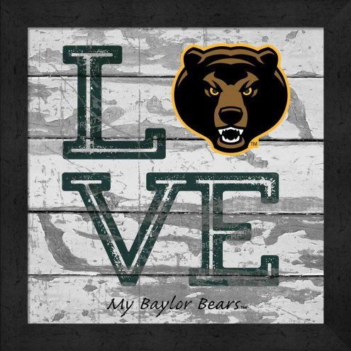 Baylor Bears Love My Team Square Wall Decor