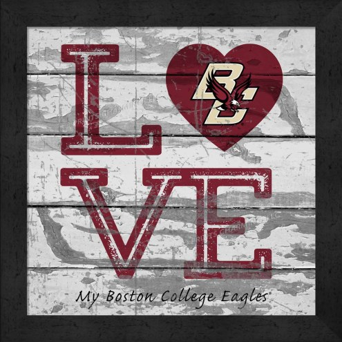 Boston College Eagles Love My Team Square Wall Decor