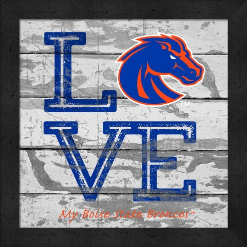 Boise State Broncos Love My Team Square Wall Decor