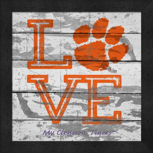 Clemson Tigers Love My Team Square Wall Decor