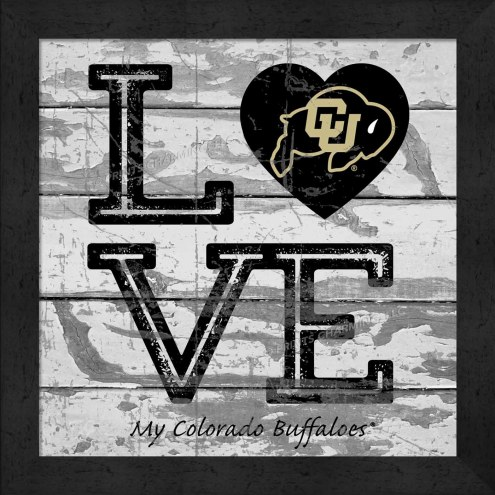 Colorado Buffaloes Love My Team Square Wall Decor