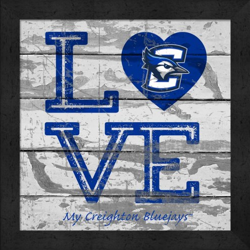 Creighton Bluejays Love My Team Square Wall Decor