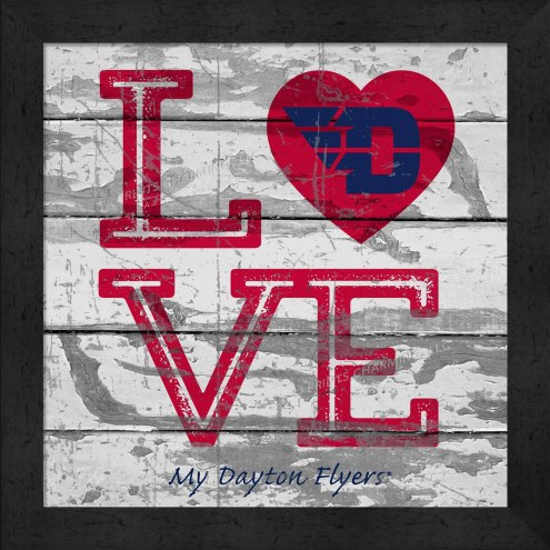 Dayton Flyers Love My Team Square Wall Decor