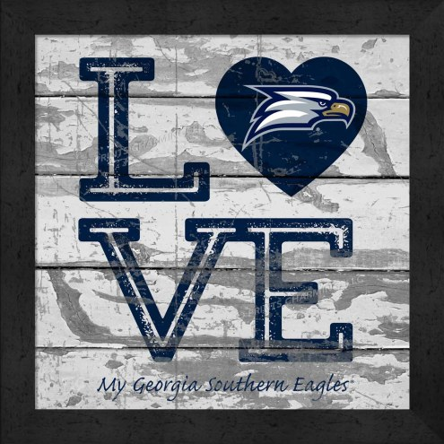 Georgia Southern Eagles Love My Team Square Wall Decor