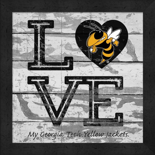 Georgia Tech Yellow Jackets Love My Team Square Wall Decor