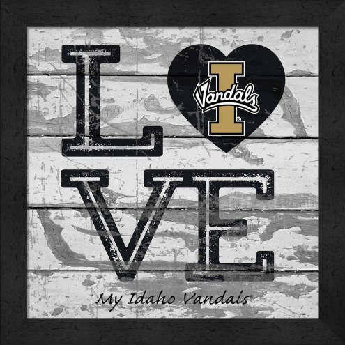 Idaho Vandals Love My Team Square Wall Decor