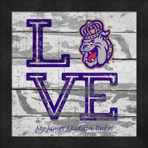 James Madison Dukes Love My Team Square Wall Decor