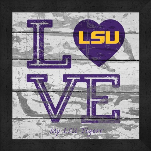 LSU Tigers Love My Team Square Wall Decor