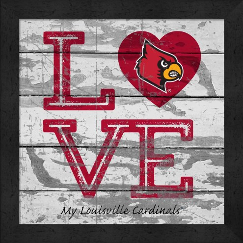 Louisville Cardinals Love My Team Square Wall Decor