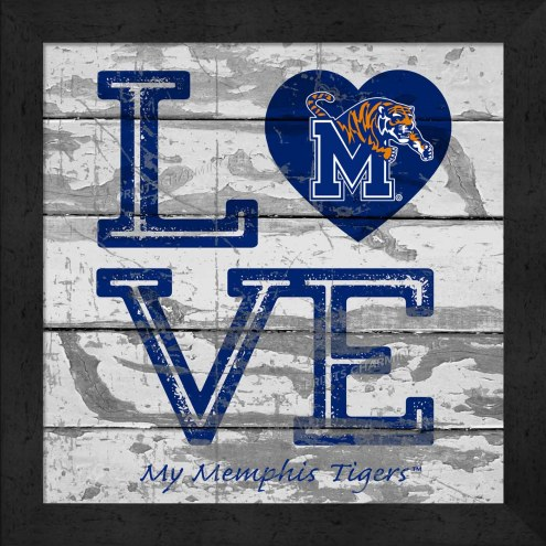 Memphis Tigers Love My Team Square Wall Decor