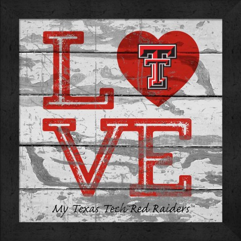 Texas Tech Red Raiders Love My Team Square Wall Decor