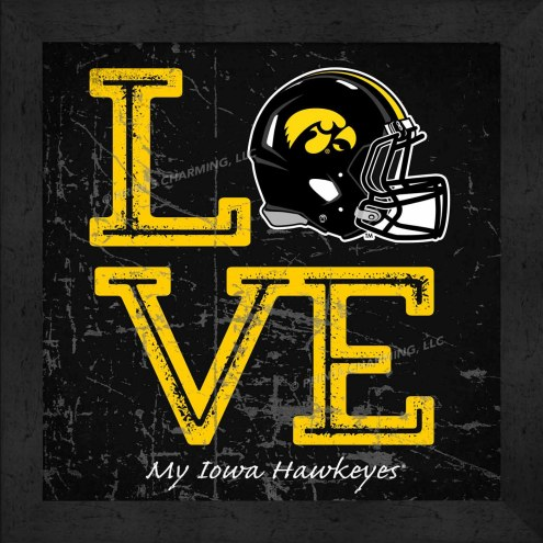 Iowa Hawkeyes Love My Team Color Helmet Wall Decor