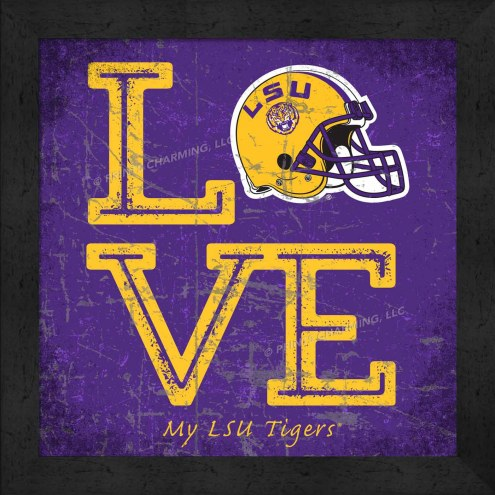 LSU Tigers Love My Team Color Wall Decor