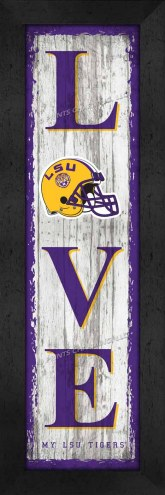 LSU Tigers Love My Team Vertical Wall Decor