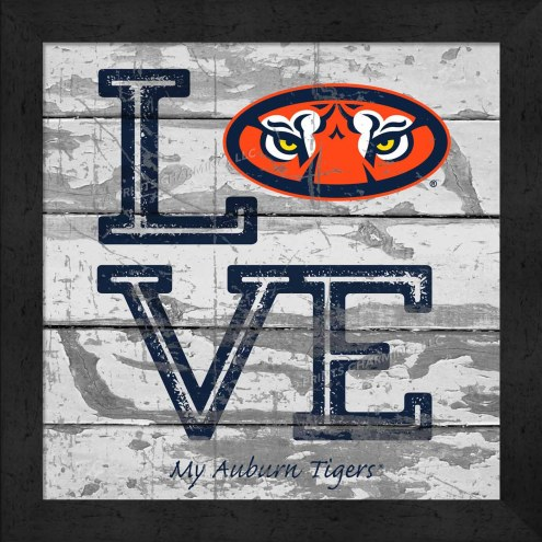 Auburn Tigers Love My Team Square Wall Decor