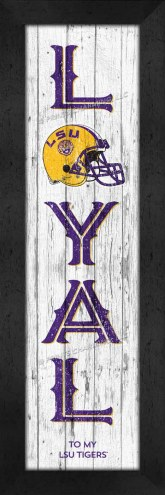 LSU Tigers Loyal Wall Decor