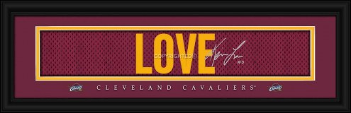 Cleveland Cavaliers Love Framed Signature Nameplate