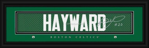 Boston Celtics Hayward Framed Signature Nameplate